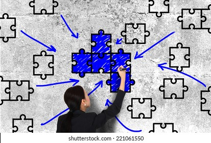 Drawing a piece of puzzle