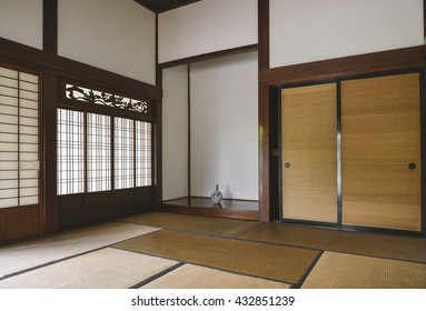 The drawing room of the Japanese old house in the 18th century