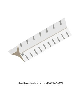 Drawing ruler icon in isometric 3d style isolated on white background