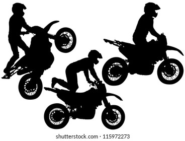 drawing a sports extreme motorcycle