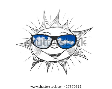 b0cf22293a5f Drawing Sun My Artwork Sunglasses Isolated Stock Photo (Edit Now ...