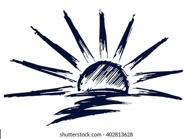 Line Drawing Of Sad Face : Sun drawing images stock photos vectors shutterstock