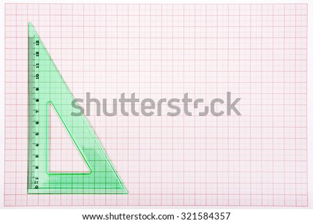 drawing tools on blue graph paper stock photo edit now 321584357