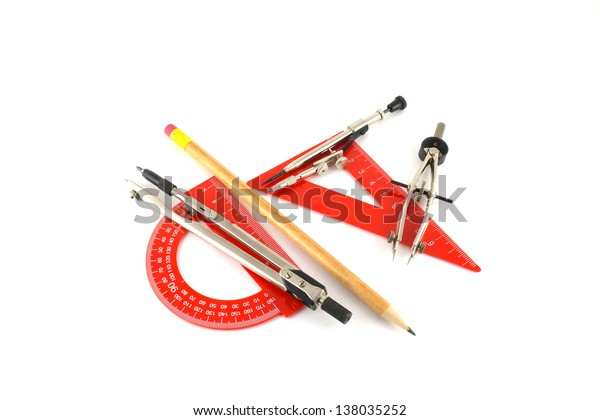 drawing-tools-over-white-600w-138035252.