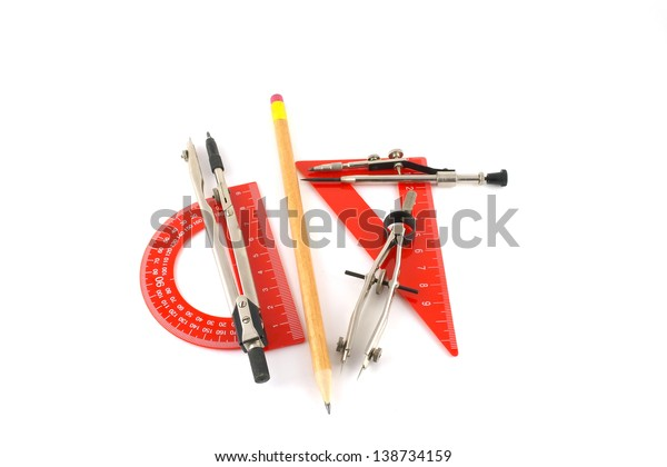 drawing-tools-over-white-600w-138734159.