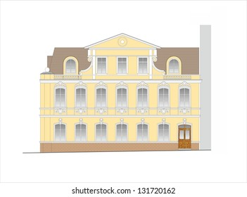 Drawings of houses of classical architecture of the end of 19-20 century.