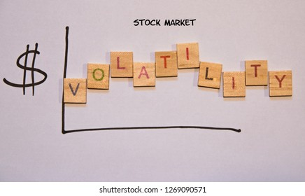 Drawn graph indicating volatility in the stock market