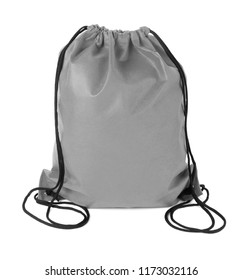 drawstring pack isolated on white background