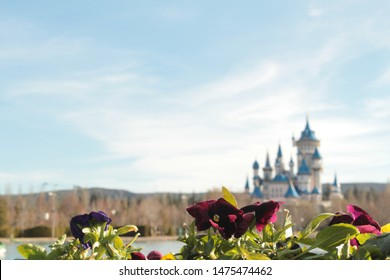 Dream castle and flower, it is a perfect fit