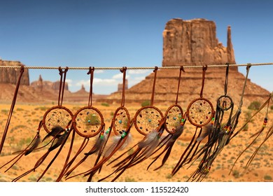 dream catcher against the background of Monument Valley, Utah, USA