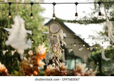 Traumfänger, Boho-Chic, ethnisches Amulett, Symbol