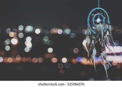 dream catcher and bokeh background selective focus and blurry