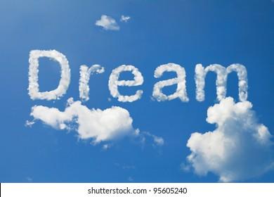Dream cloud word