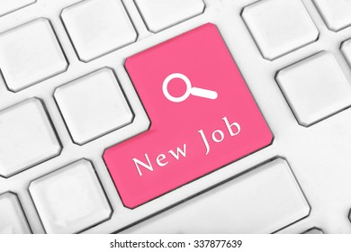 Dream job concept. Keyboard close up