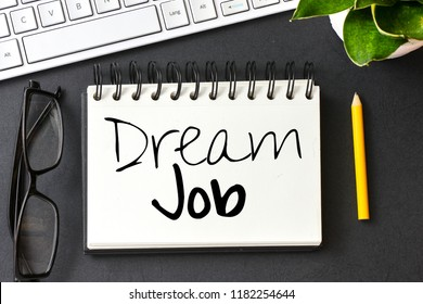 Dream job text or note