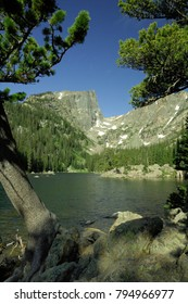 Dream lake, Hallett Peak, Rocky Mountain National Park, Colorado