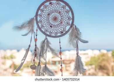 Dreamcatcher boho chic, ethnic amulet,symbol.