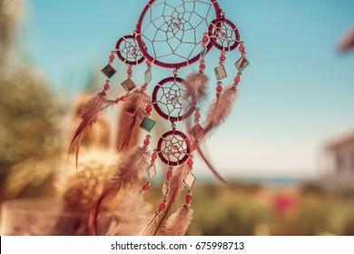 Dreamcatcher, boho chic, ethnic amulet,symbol.