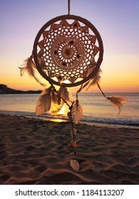 dreamcatcher on beach