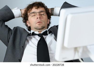 Dreaming businessman