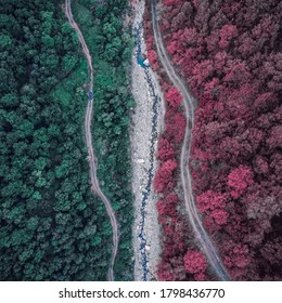 Dreaming Drone View mit Fantasiefarbe