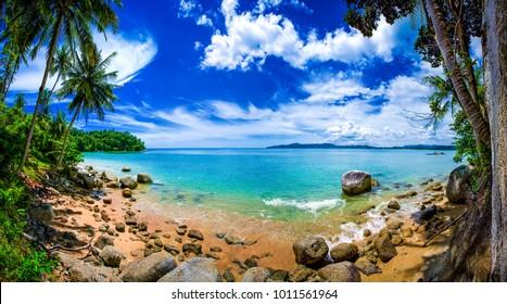 Dreamy Beach Panorama, Phuket Thailand