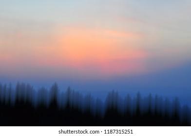 Dreamy landscape sky in pastel colors