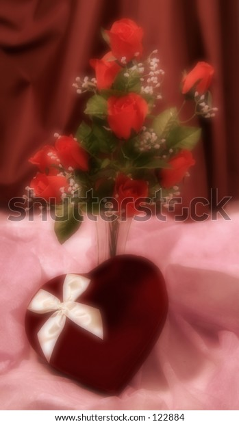 Dreamy roses and candy
