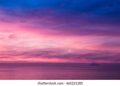 Dreamy Sicily sunset