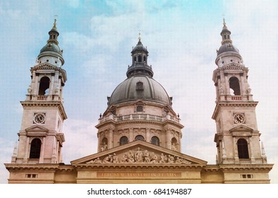 Dreamy St. Stephen's Basilica cathedral in Budapest Hungary