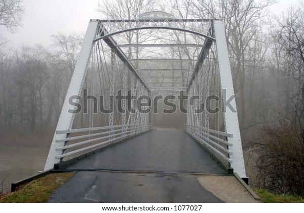 Dreary Day, Metal Bridge