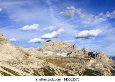 Drei Zinnen Nature Park in Dolomites mountains in the Alps