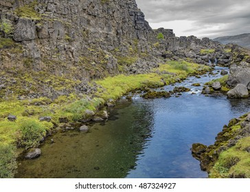 The Drekkingarhylur, a pool in Thingvellir which was used for drowning women accused of; infanticide adultery and other serious crimes and sentenced to death by the Icelandic courts.