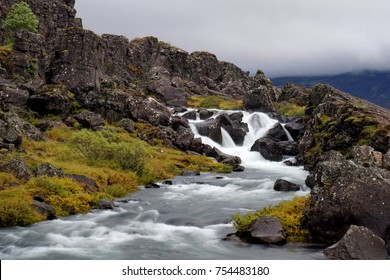 Drekkingarhylur waterfall in Þingvellir National Park