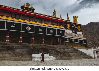 Drepung monastery is the largest of all Tibetan monasteries and is located in the foothills of Lhasa, Tibet.