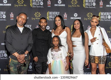 Dres, Chi Ali Griffith, Kali Griffith, Nikkia Griffith, Cheyanne Rector, Cayla Beach attend 19th Annual Beverly Hills Film Festival, Hollywood, CA on April 3rd, 2019