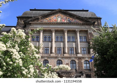 Dresden city in Germany. State of Saxony Ministry of Finance.