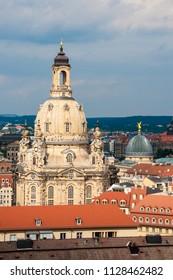 The Dresden Frauenkirche is a Lutheran church in Dresden, Saxony