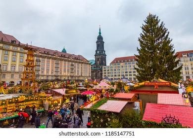 Dresden, Germany - 12 December 2017: Dresden Christmas Market