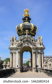 Dresden, Germany - 20 August. 2016: The Baroque style of crown gate at the Zwinger Palace, Dresden, Germany