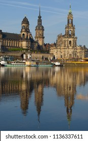 DRESDEN, GERMANY - APRIL 29, 2018: April morning in the historic center of Dresden