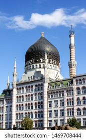 Dresden, Germany - August 21, 2016: Yenidze building, formly a cigarette factory in oriental architecture style in Dresden, Germany. Now is is an office business building with restaurant