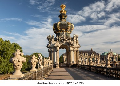 DRESDEN, GERMANY - August 24, 2020: The Zwinger is a palatial complex with gardens in Dresden, Germany and one of the most important buildings of the Baroque period in Germany.