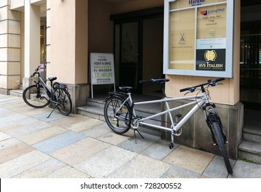 Dresden, Germany - August 4, 2017: Tourist city. life of modern streets at noon in Dresden