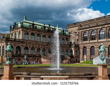 Dresden / Germany — August 9, 2011: the inner yard of Zwinger palace