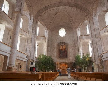 DRESDEN, GERMANY - JUNE 11, 2014: Kreuzkirche meaning Church of the Holy Cross is the largest church in Saxony