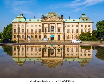 DRESDEN, GERMANY - JUNE 11, 2014: Japanisches Palais meaning Japanese Palace baroque building on the Neustadt bank of the river Elbe built in 1715 (HDR)