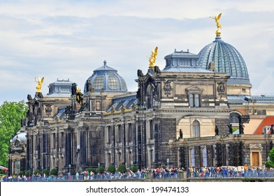 DRESDEN, GERMANY - JUNE 14: View of a Dresden Academy of Fine Arts on June 14, 2014. Dresden is the capital city of the Free State of Saxony in Germany.