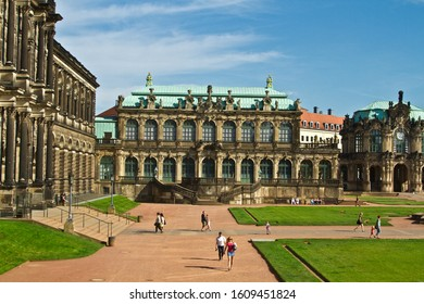 Dresden / Germany - June 6th 2012.   Scenes from Dresden in Germany: the Zwinger Palace