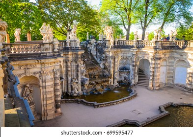 DRESDEN, GERMANY - MAY 7, 2016: Famous Zwinger palace (Der Dresdner Zwinger) Art Gallery of Dresden, Saxony, Germany